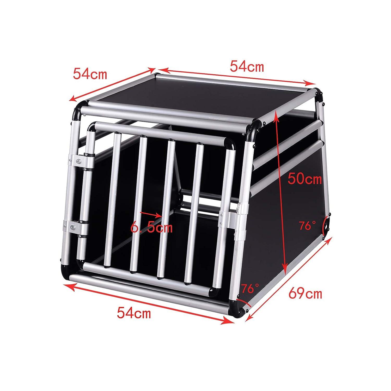 Premium Pet Carrier Kennel,Puppy Cat Car Transport Box House EUGAD Aluminium Dog Cage Crate
