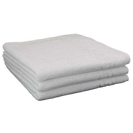 Toallas de mano/toallas de ducha Set en Premium Hotel De qualiät. Color Blanco.