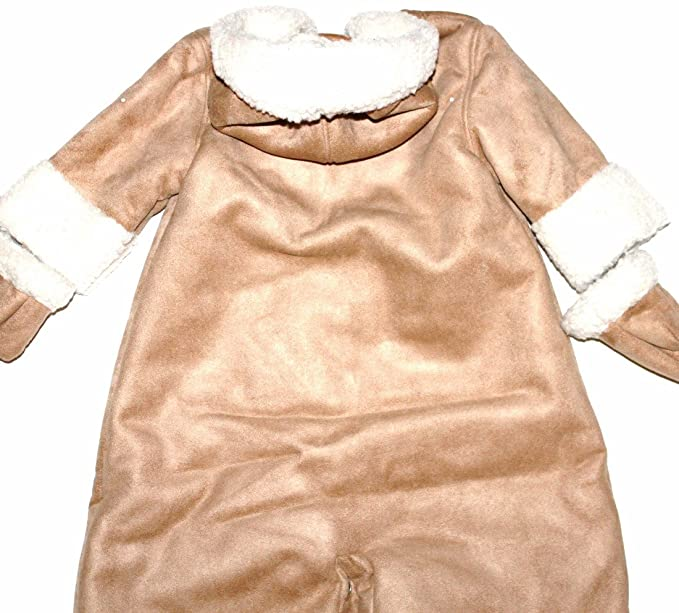 bcb1d8066 Amazon.com: Baby Gap Infant Boy Girl Brown Faux Suede & Sherpa Convertible  Snowsuit Bag: Clothing