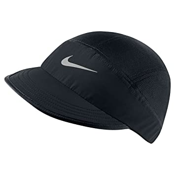 e1efa1a4d0b9d closeout nike unisex tailwind mesh adjustable running cap black reflective  silver a979a 99526