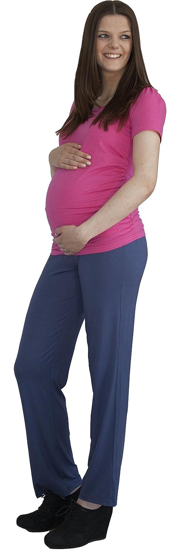 12babyline Daypant Viskose//Elastan Bequeme Hose tief geschnitten Umstandshose Schwangerschaftshose
