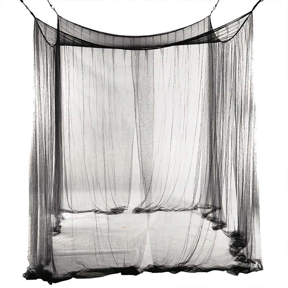 Starlit Home Decorative 4 Doors Rectangular Mesh Bed Canopy Mosquito Net