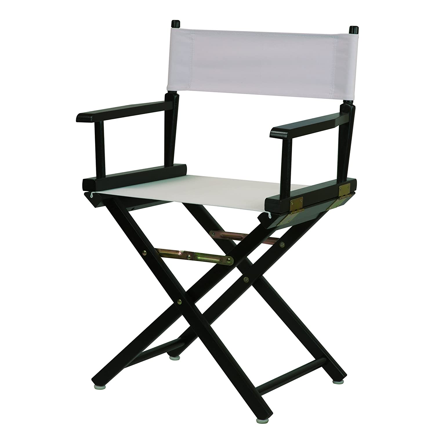 White 18-Inch Casual Home 24-Inch Director Chair Black Frame, Hunter Green Canvas