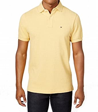 49f5b47d8 Tommy Hilfiger Men s Short Sleeve Polo Shirt in Custom Fit at Amazon ...