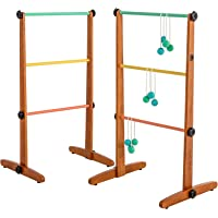 Viva Sol Premium Outdoor Ladderball Game Includes Two Ladder Target and Six Golf Ball Bolas