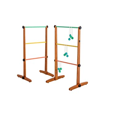 Viva Sol Premium Outdoor Ladderball Game Includes Two Ladder Targets and Six Golf Ball Bolas