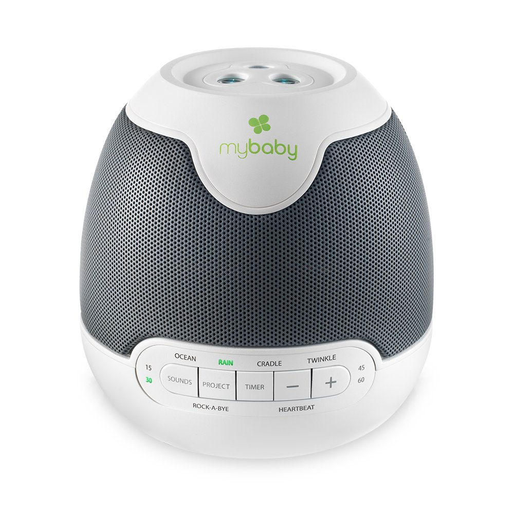 MyBaby, SoundSpa Lullaby - Sounds & Projection, Plays 6 Sounds & Lullabies, Image Projector Featuring Diverse Scenes, Auto-Off Timer Perfect for Naptime, Powered by an AC Adapter Homedics MYB-S305