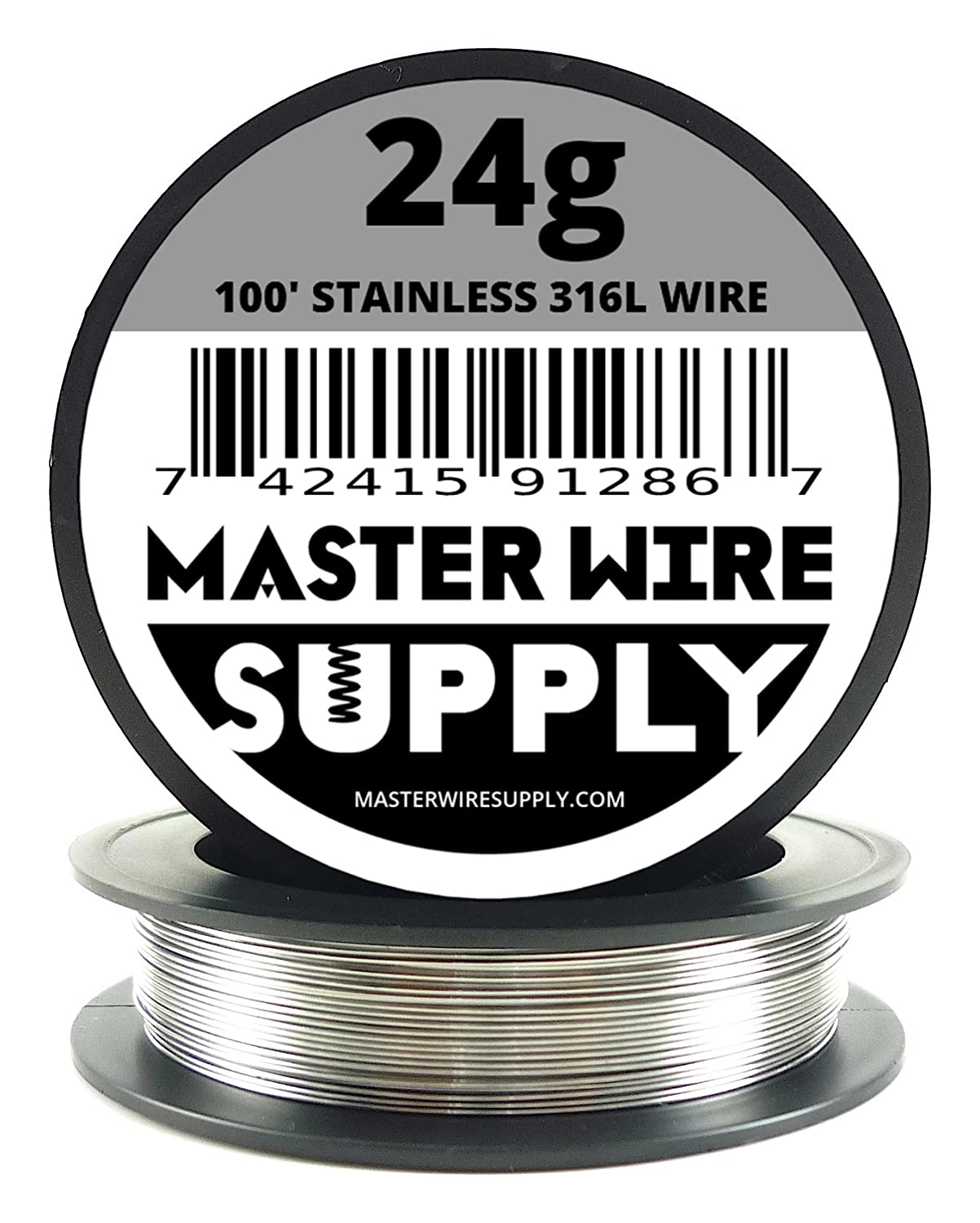 Stainless Steel 316L - 100' - 24 Gauge Wire Master Wire Supply 4336834432
