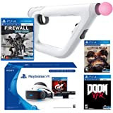 PlayStation VR FPS Classic Bundle (5 Items): PlayStation VR Gran Turismo Bundle, PSVR Doom VFR Game, PSVR Bravo Team Game, PSVR Farpoint Game and PSVR Aim Controller