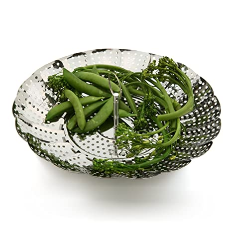 Amazon.com: Plegable Acero Inoxidable vegetales Steamer ...