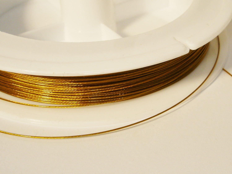Schmuckdraht Stahlseide 5 Meter gold 0,38 mm SDG038