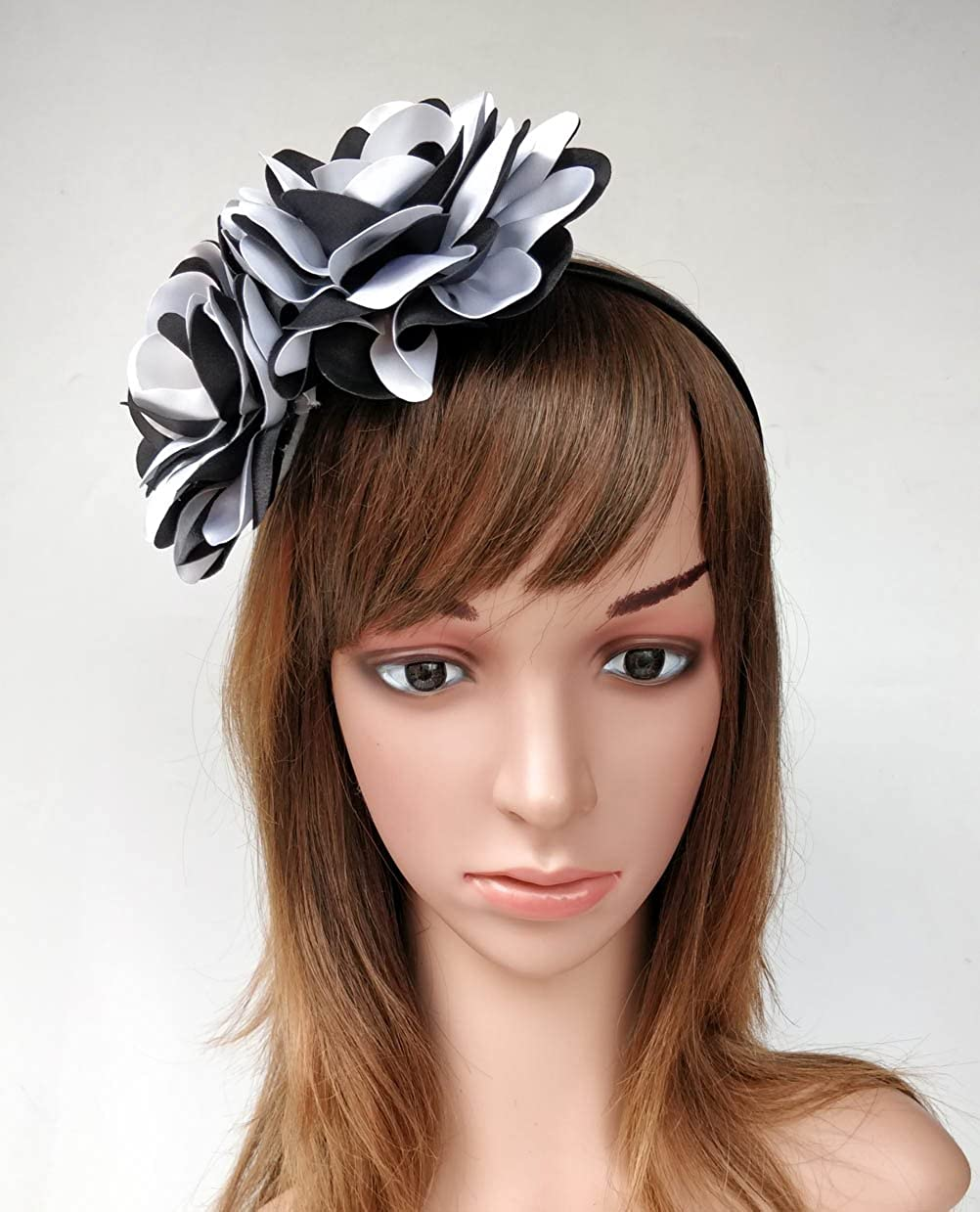 Vintage Elegant Flower Fascinator Hair Clip Headband