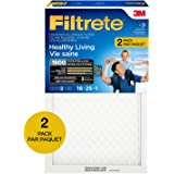 Filtrete MPR 1900 16 x 25 x 1 Healthy Living Ultimate Allergen Reduction HVAC Air Filter, Captures Fine Inhalable Particles, 2-Pack