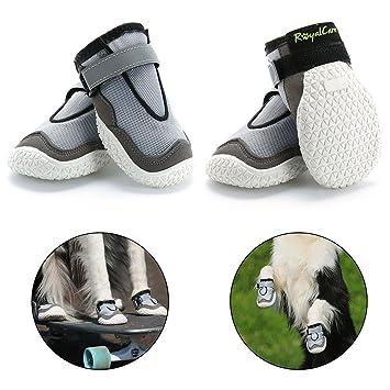 de de respirantes chaud RoyalCare 4 paires chaussures de patteLot de 4 et été Bottes antidérapantes pour de grands chiens en chien protecteur qSVpLUzGM
