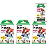 Fujifilm Instax Mini Instant Film (3 Twin Packs, 60 Total Pictures) - International Version