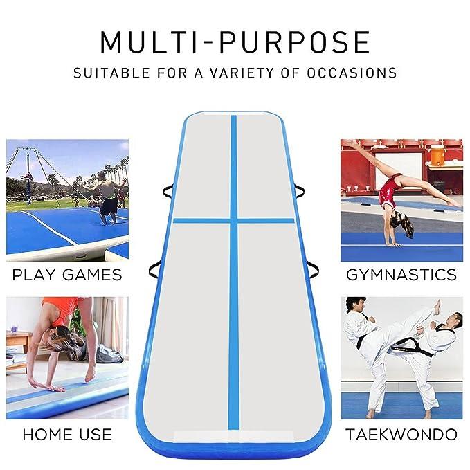 Amazon.com: FBSPORT Alfombrilla hinchable para gimnasia con ...