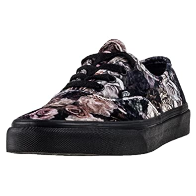 Vans Authentic Velvet Womens Trainers Black Floral - 3 UK