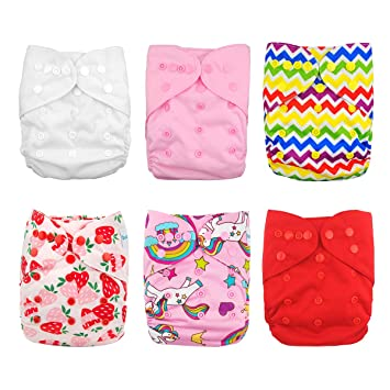 136642fd4 Amazon.com   Babygoal Cloth Diaper Covers for Girls
