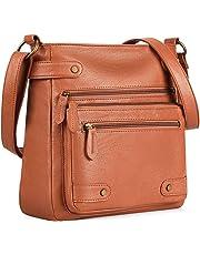 Plambag Crossbody Purse for Women, Washed Soft PU Leather Multi-Pocket Messenger Handbag