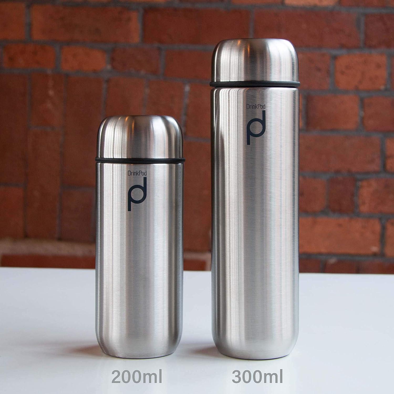 Grunwerg Drinkpod 200ml//7oz Stainless Steel Vacuum Flask Thermoses Satin Finish HCF-200SS Grunwerg UK