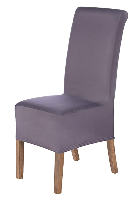 SCHEFFLER-Home Lena 2 Fundas de sillas, Estirable Cubiertas, extraíble flexibel Funda con Banda elástica, Shark-Gris