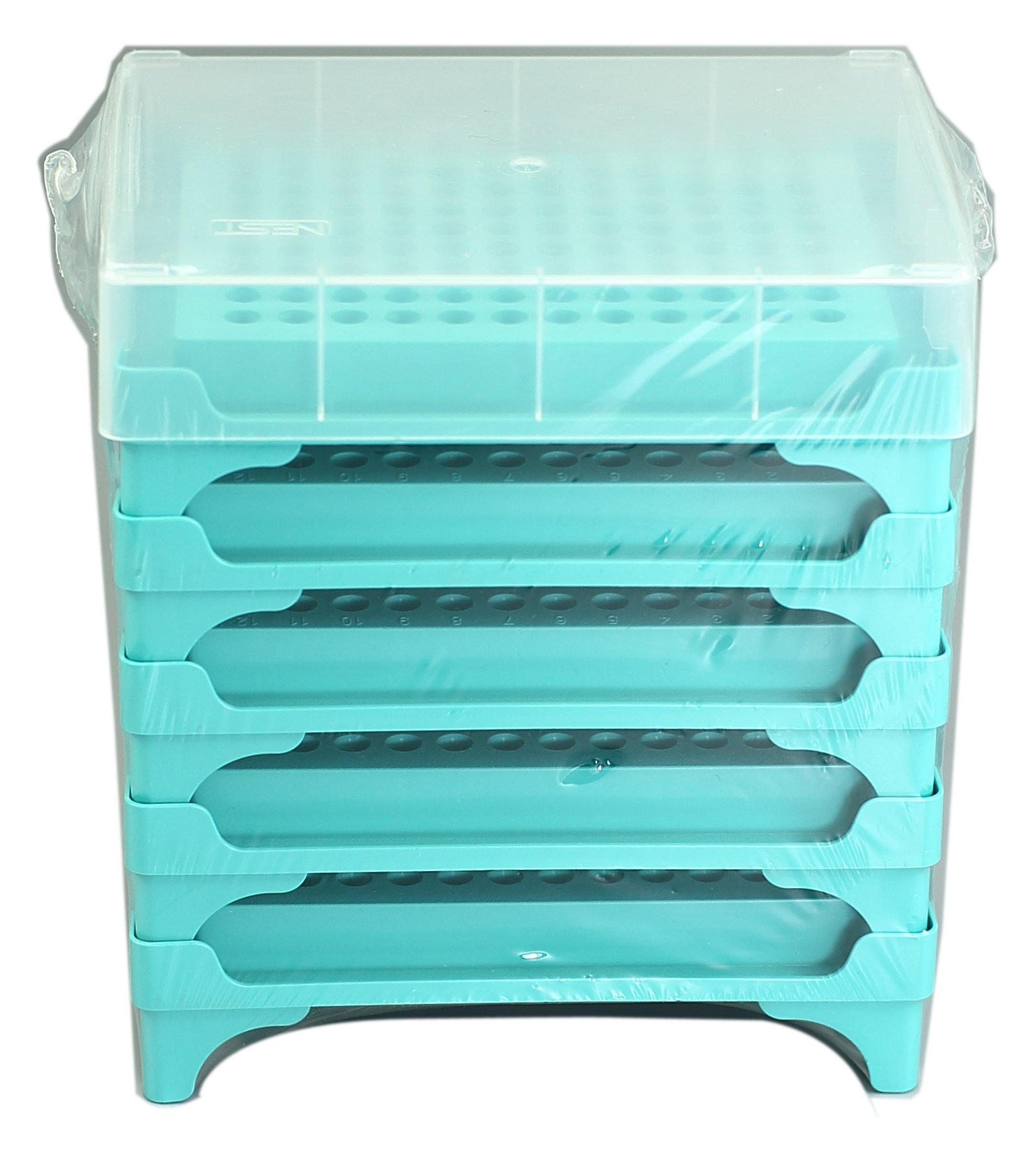 Nest Scientific 407101 PCR Tube Rack, 96 Well (8 x 12), One Cap for 5 Pieces, 5 per Pack, 25 per Case (Pack of 25)