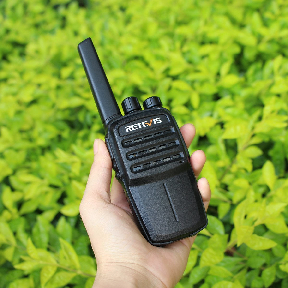 Retevis RT40 Walkie Talkies 48 Channel Two-Way Radio Digital Analog Group Call 1700mAh Li-on Rechargeable Battery with USB Charger FA9128AX2-J0013A 1 Pair