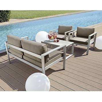 Amazon.de: Lounge Set SAN DIEGO 4tlg Edelstahl Sitzgarnitur ...