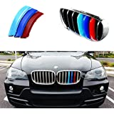 iJDMTOY Exact Fit ///M-Colored Grille Insert Trims For 2007-2013 BMW E70 X5, 2008-2012 E71 X6 Center Kidney Grill