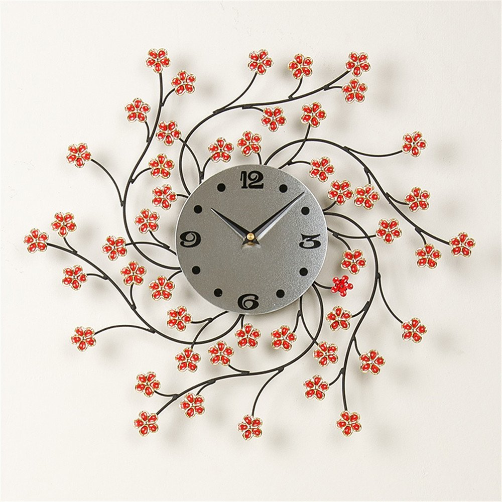 RFVBNM Classic Garden Phillips creative living room wall clock clocks modern decor quartz clock mute art 5555cm5555cm wall clock