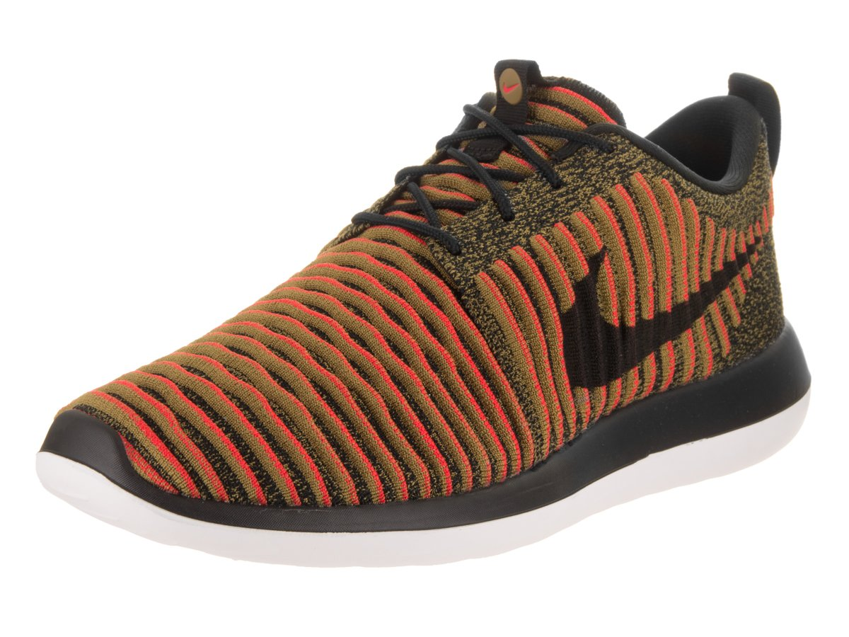 promo code 64bdf 209fa Galleon - Nike Mens Roshe Two Flyknit Black Black White Max Orange Running  Shoe 11 Men US