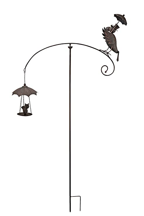 Red Carpet Studios Balancer Garden Stake, Rainy Day Crow