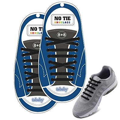a24ce192088a No Tie Shoelaces - Flat Elastic Laces by the Size - For Casual Athletic  Lifestyle Shoe
