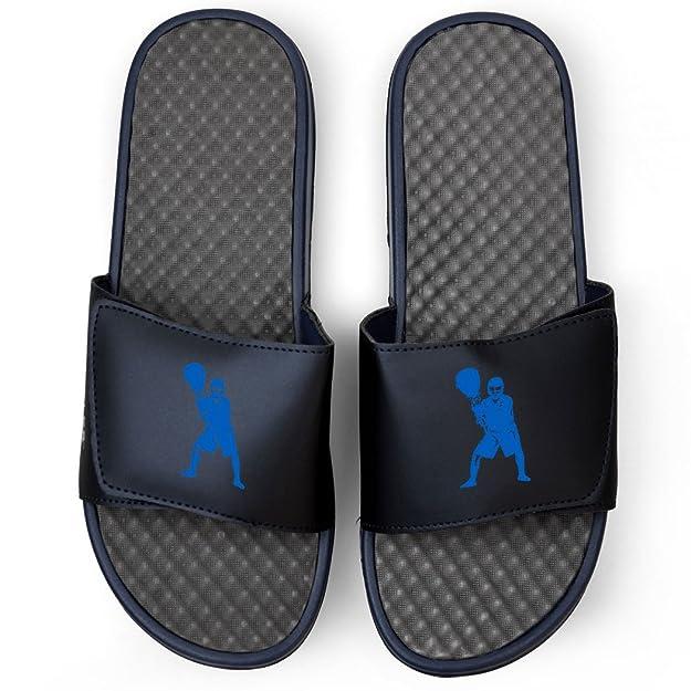 Navy Guys Lacrosse Slide Sandals - Goalie