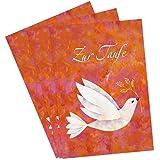 3er Set Glückwunschkarten zur Taufe von Aurélie Blanz