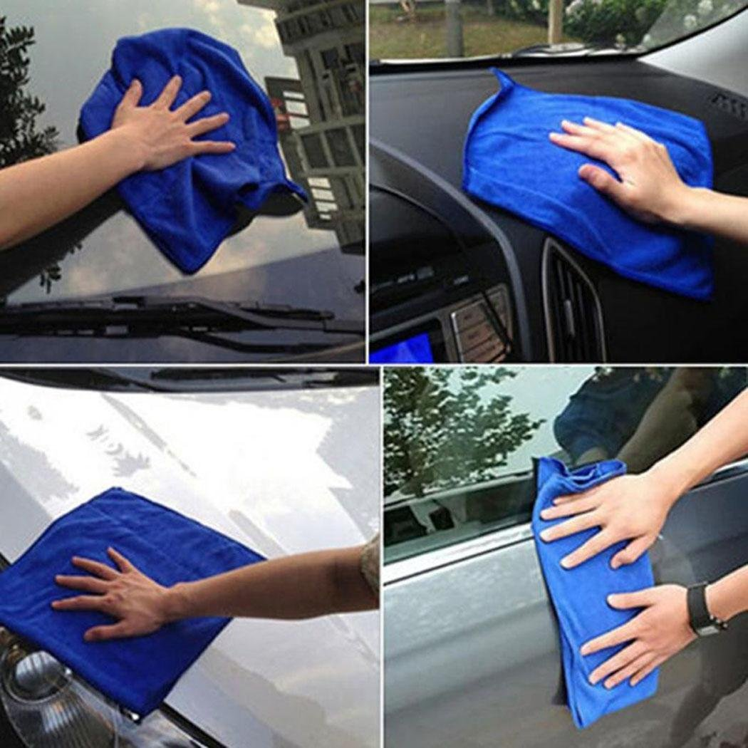 Salver Microfiber Square Water Absorption Not Falling Hair Car Cleaning Towel Cleaning Cloths