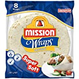 "Mission Foods 10"" Super Soft Original 8 Wraps,"