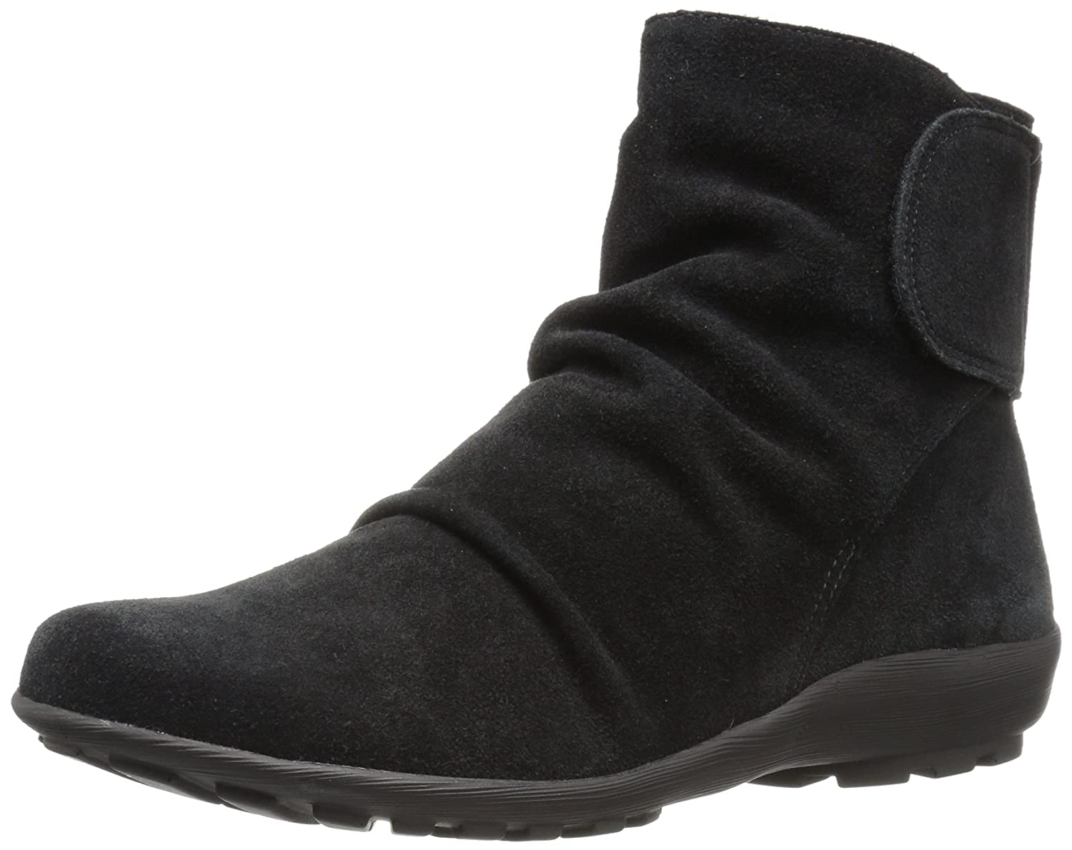 Walking Cradles Women's Harlow Ankle Boot B01MZD7DY7 8.5 W US|Black Suede