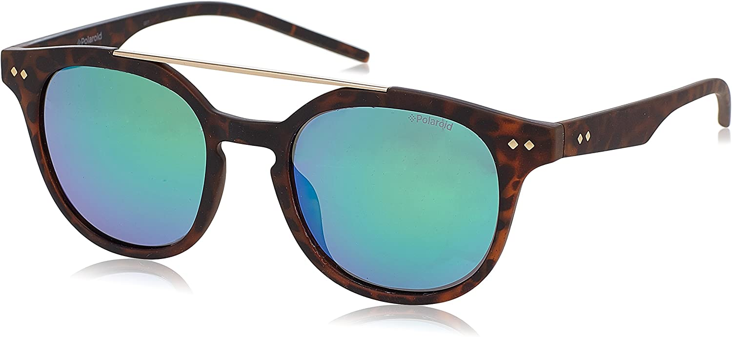 Polaroid PLD 1023/S K7 202 gafas de sol, Marrón (Brown Havana/Green Grey Speckled Pz), 51 Unisex-Adulto