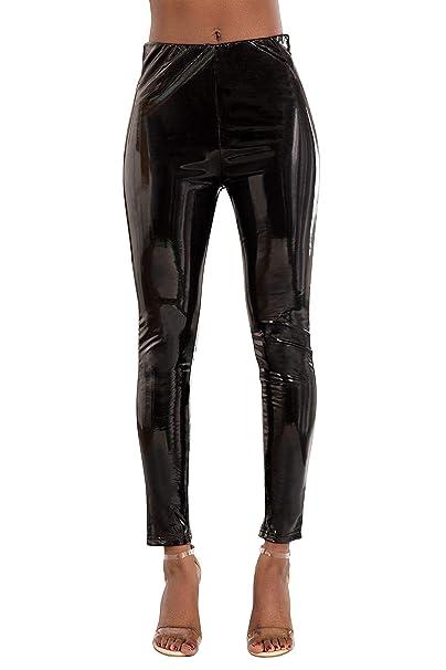 reputable site coupon codes release date Glook Womens Leather Look Skinny Black Trousers Leggings Slim Fit ...