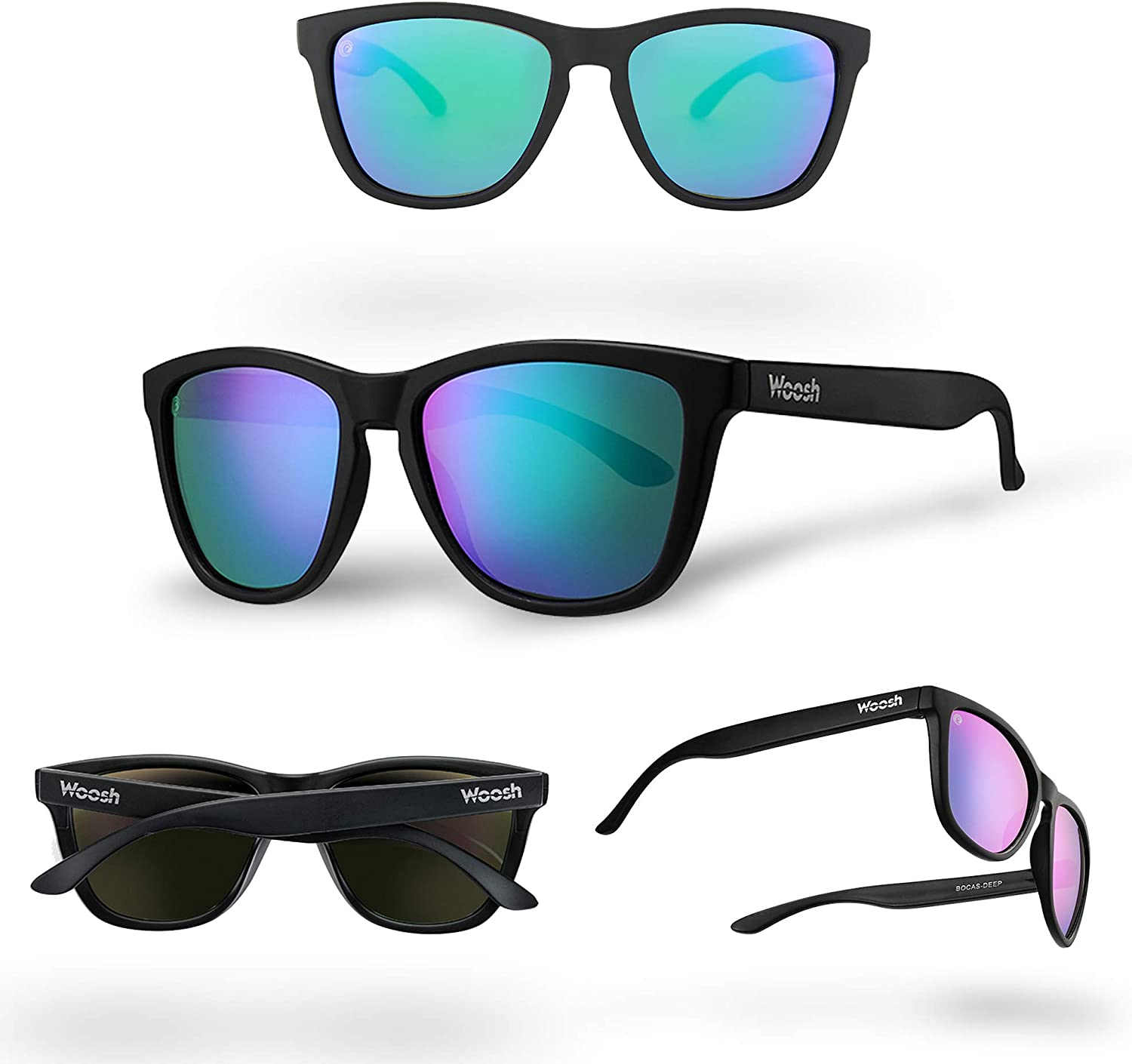 WOOSH Polarized Lightweight Sunglasses for Men and Women -Unisex Sunnies for Fishing, Beach Running, Sports and Outdoors