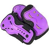 Kit de protections 6 pièces/3 paires - protège-paume + coudière + genouillère - skateboard, roller, patin à glace etc. Coloris et tailles divers