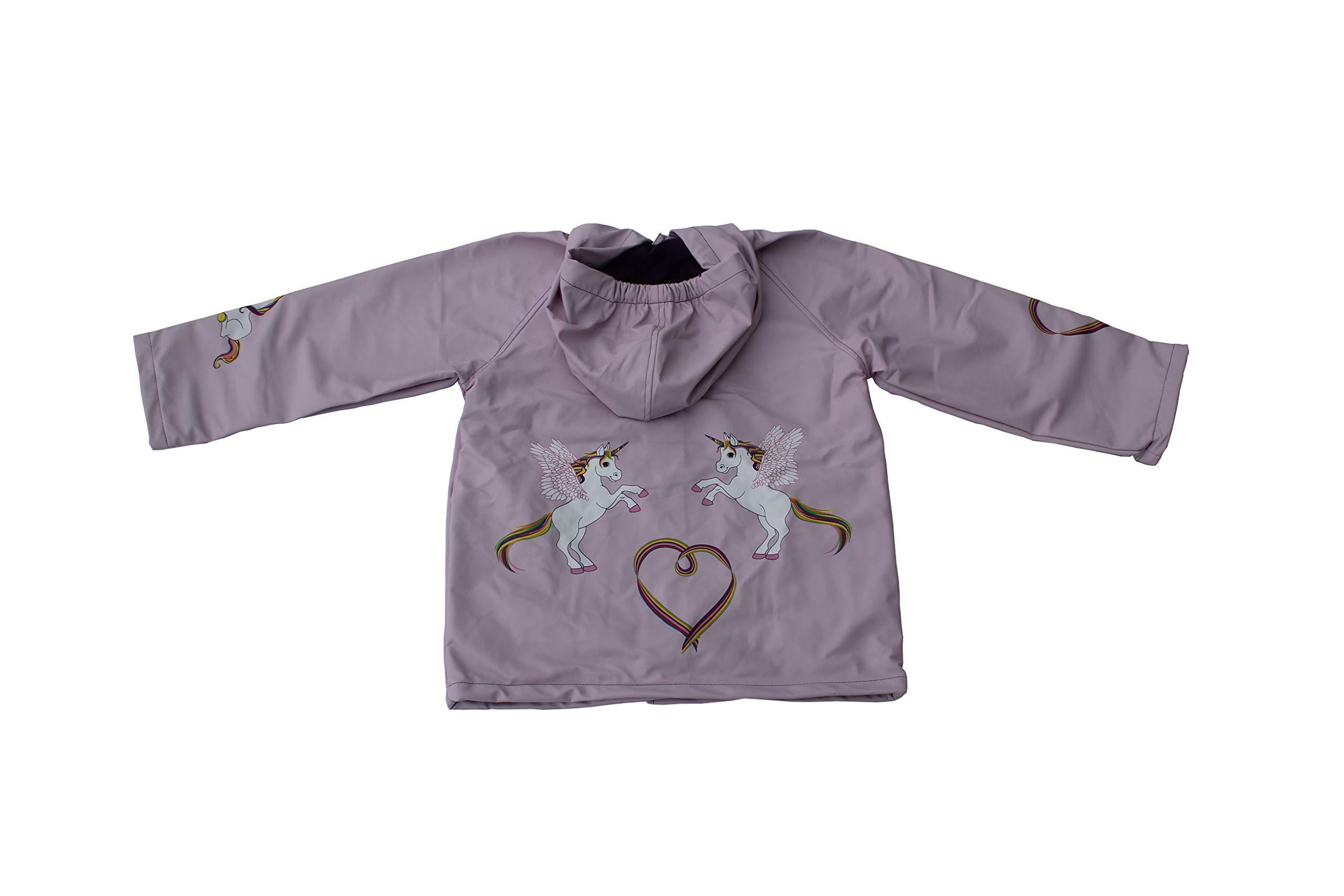Foxfire for Kids Lilac Rainbow Unicorn Children Toddler Raincoat Size 1T