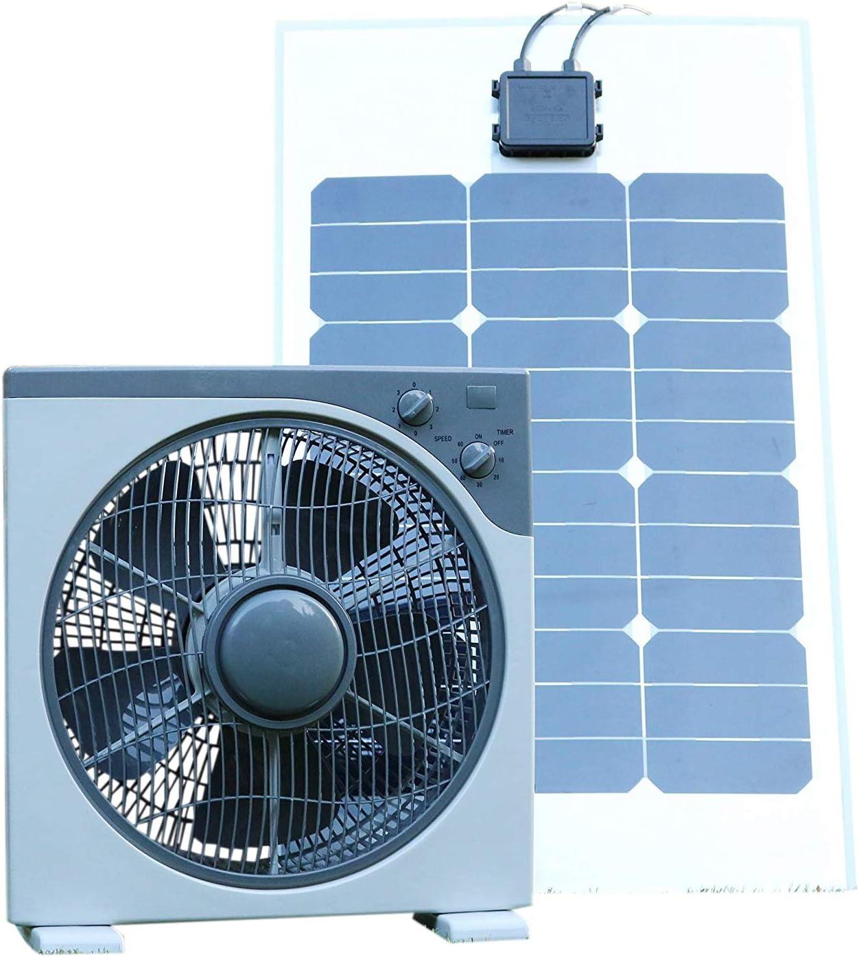 Ventilador solar verde de 12 V 40 W con panel solar semiflexible ...