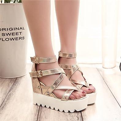 4dfb1b601191 Feilongzaitianba Fashion Sandals Summer Wedges Women s Sandals Platform  Lace Belt Bow Flip Flops Open Toe High