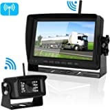 Digital Wireless Backup Camera For RV/Car/Truck/Trailer with 7''Monitor System No Interference Rear/Side/Front View Camera Continuous/Reverse Use Opional IP69K Waterproof Night Vision