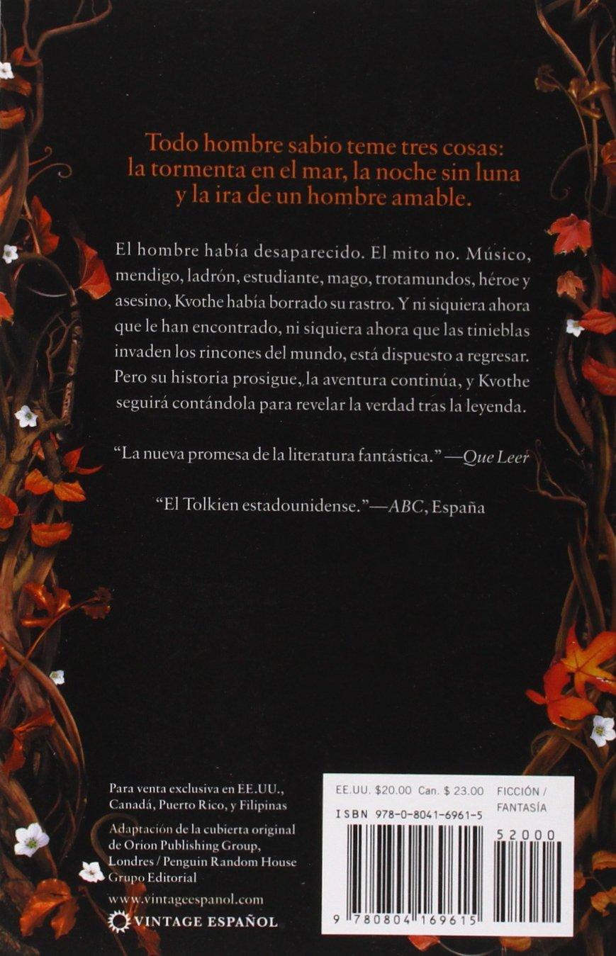 El temor de un hombre sabio: Cronicas del asesin de reyes: Segundo dia: Amazon.es: Patrick Rothfuss, Gemma Rovira: Libros