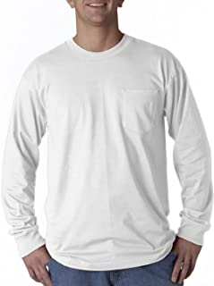 product image for Bayside Apparel Long-Sleeve Tee with Pocket (8100)
