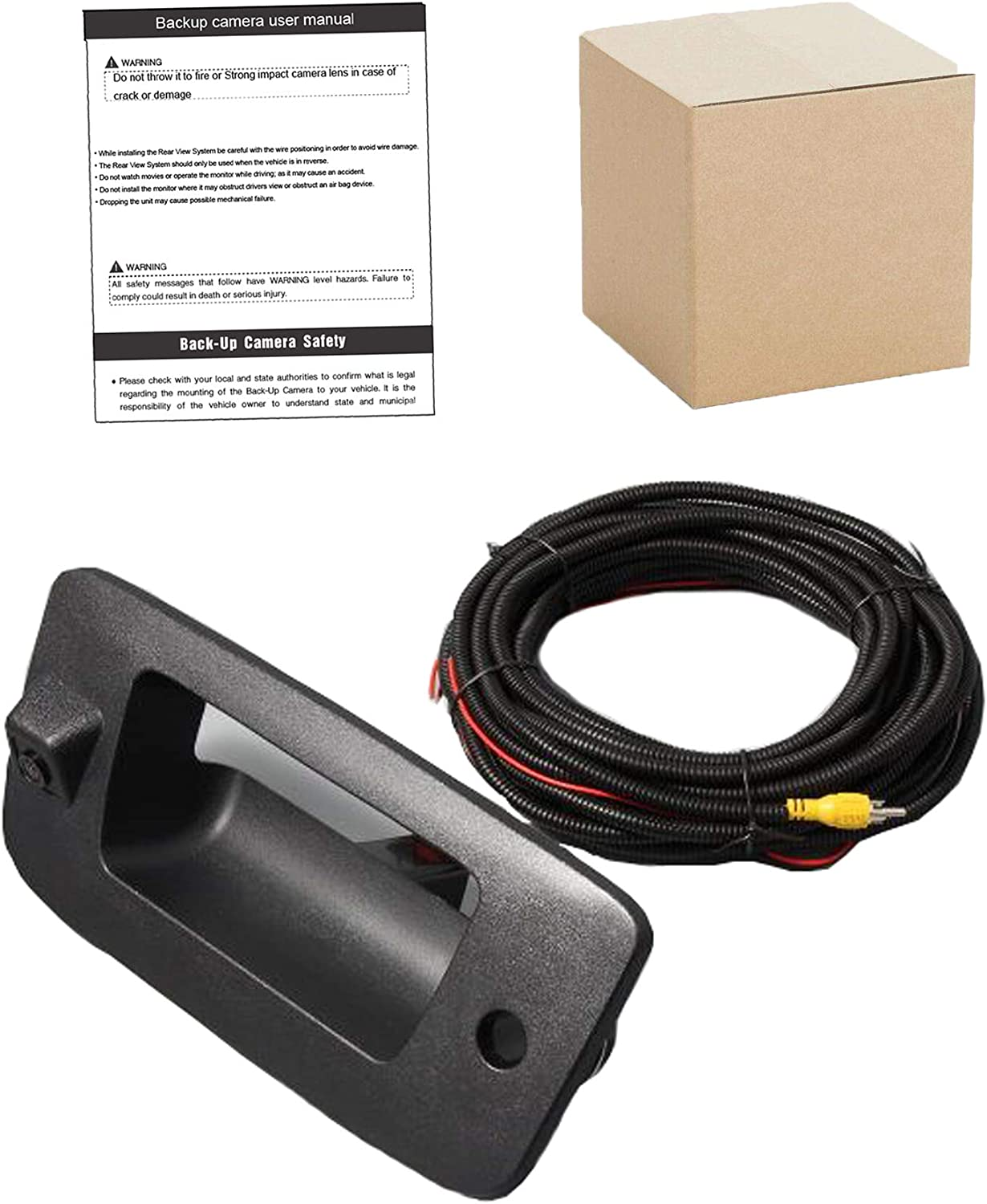 Red Wolf Tailgate Handle With Backup Camera Removable Guideline ...