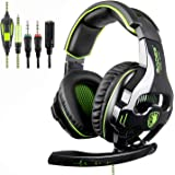 [Nouveau Version révisée] SADES 810s stéréo casque Gaming avec volumenausgleich Mic pour New Xbox One, PS4, PS4 Pro, PC, ordinateur portable, Mac, Phone - Vert